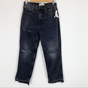 Free people distressed boyfriend high rise jeans